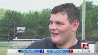 Local high school football player's inspirational story