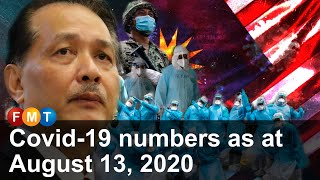 Covid-19 numbers as at August 13, 2020