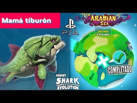 Hungry Shark World PS4 #17 Mama Tiburón (DUNKLEOSTEUS) THE ARABIAN SEA COMPLETADO!