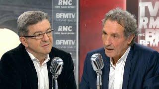 Mélenchon s'offusque d'une question de Bourdin:
