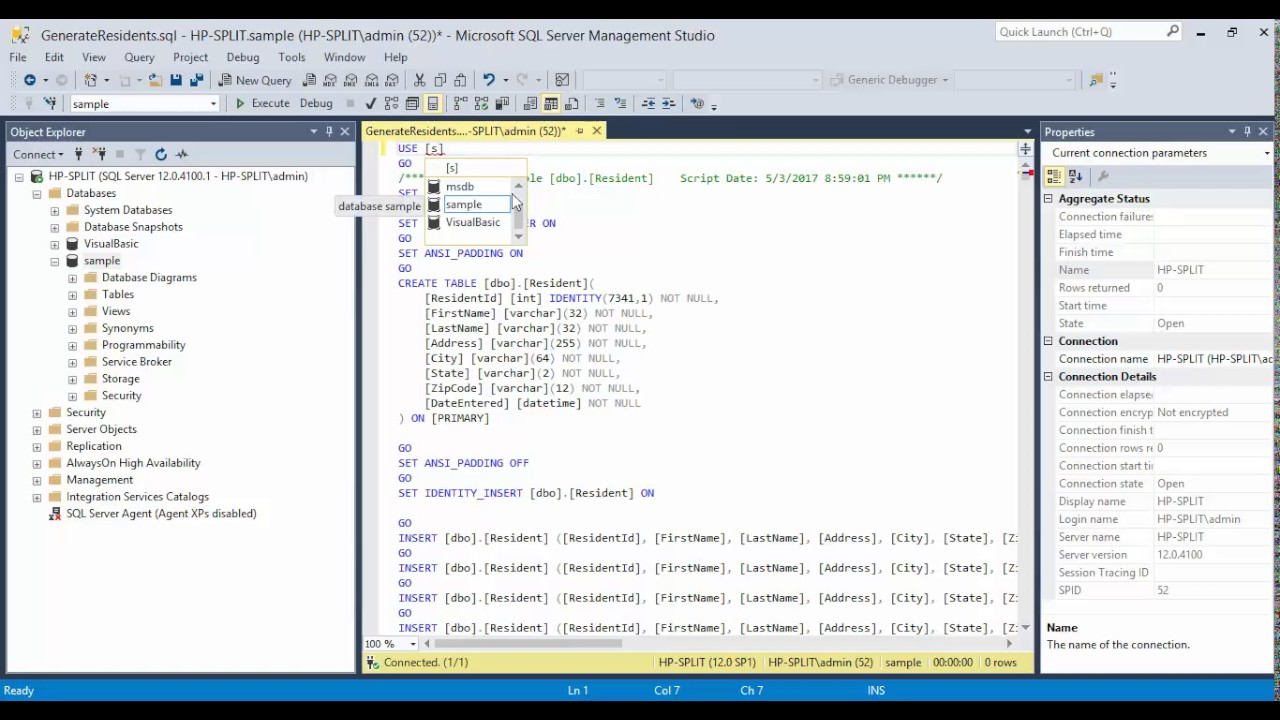 02 Visual Basic 2015 Adding SQL Query Files to Database In Microsoft SQL  Server