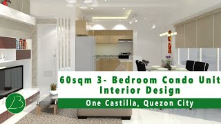 One Castilla QC - 3D Walk-through Animation: 3-Bedroom Condo Unit Interior Design