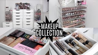 MAKEUP COLLECTION AND STORAGE 2017   FAVE MAKEUP AND BRUSHES INCLUDED