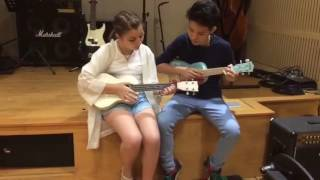 Vũ Cát Tường hướng dẫn Milana đàn ukulele bài Ô Mê Ly Chung kết Giọng Hát Việt Nhí 2016