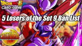 5 Losers of the Set 9 Ban List - Dragon Ball Super Card Game