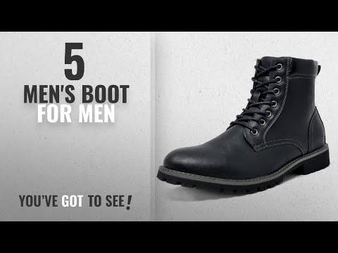 Top 10 Men'S Boot [ Winter 2018 ]: Bruno Marc Men's Stone-03 Black Motorcycle Combat Dress Oxford