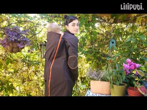 Liliputi® Babywearing Mama Coat - instructions for back carry