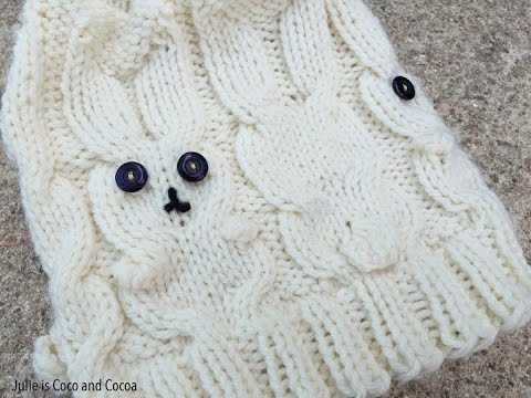 Bunny Hat Knit Cables And Bobbles Youtube