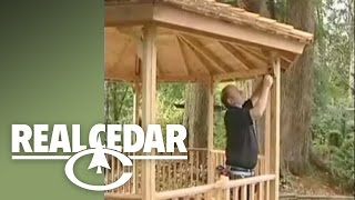 How To Build : Gazebo (part 2) - Realcedar.com