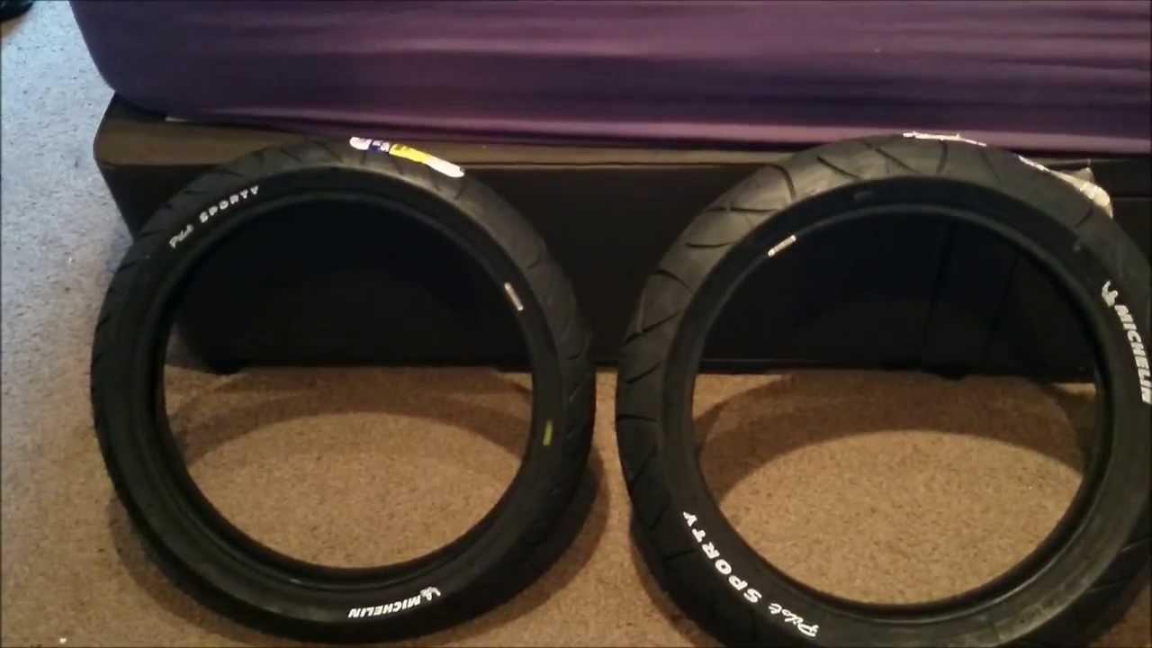 Honda CBR125R Michelin Pilot Sporty Tyres - YouTube