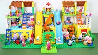Peppa Pig Lego House With Water Slide Toys For Kids #4