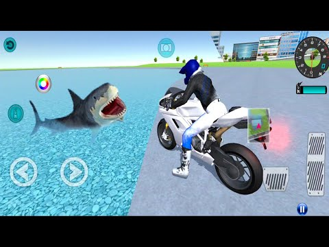 3D Driving Class NEW UPDATE - Best Motorcycl Gas Station Shark Fish#4 - Android IOS Gameplay
