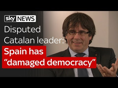 "Disputed Catalan leader Carles Puigdemont: Spain has ""damaged democracy"""