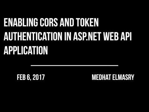 Enabling CORS & Token Authentication in an ASP.NET WEB API application