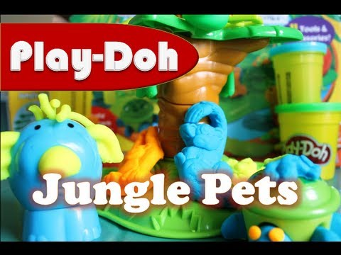play doh jungle pets hasbro animals play doh kids 39 toys youtube. Black Bedroom Furniture Sets. Home Design Ideas