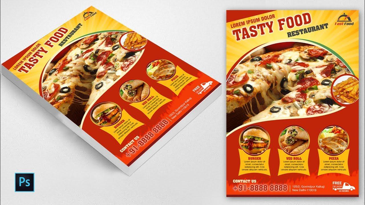 Food flyer tutorial pizza poster design in photoshop cs6 food flyer tutorial pizza poster design in photoshop cs6 creative flyer latest baditri Choice Image