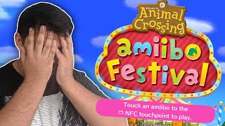 We tried to play Animal Crossing: Amiibo Festival...