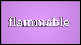 Flammable Meaning