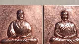 鑑真和上座像を銅板のレリーフにしてみました。