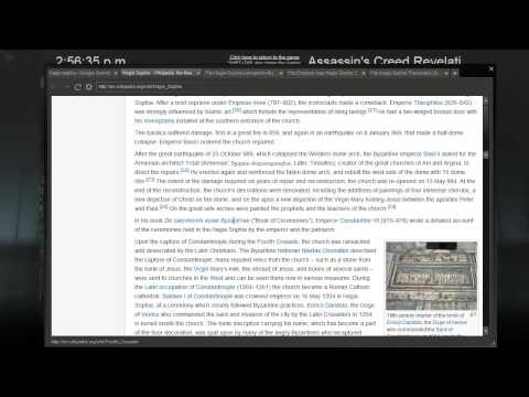 Assassin's Creed Revelations playthrough #54: Architecture of the Hagia Sophia part 1