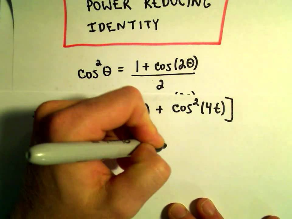 Power Reducing Formulas for Sine and Cosine, Example 1 - YouTube