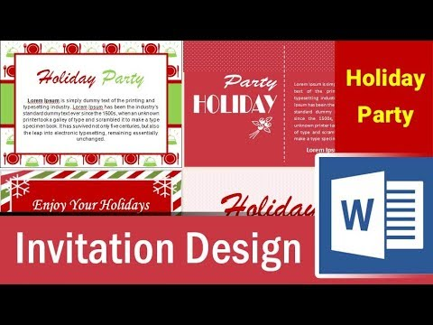 6 holiday party invitation design in microsoft word part 4 youtube