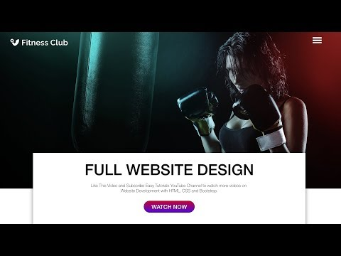 How To Make A Website Using HTML CSS & Bootstrap | Fitness Sports Website Design Full Video