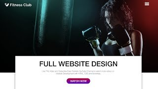 How To Make A Website Using HTML CSS & Bootstrap   Fitness Sports Website Design Full Video
