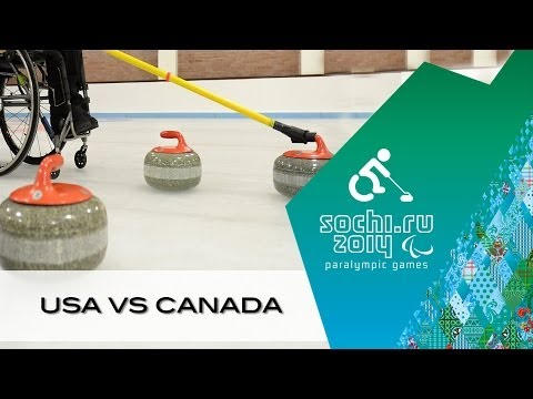 USA v Canada | Wheelchair curling | Sochi 2014 Paralympic Winter Games