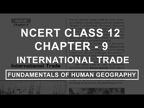 International Trade Chapter 9 Geography NCERT Class 12