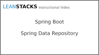 Using Spring Data Repositories with Spring Boot