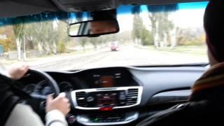 Honda Accord 2013: Реальная динамика V6-3.5 - драйв тест у автодиллера