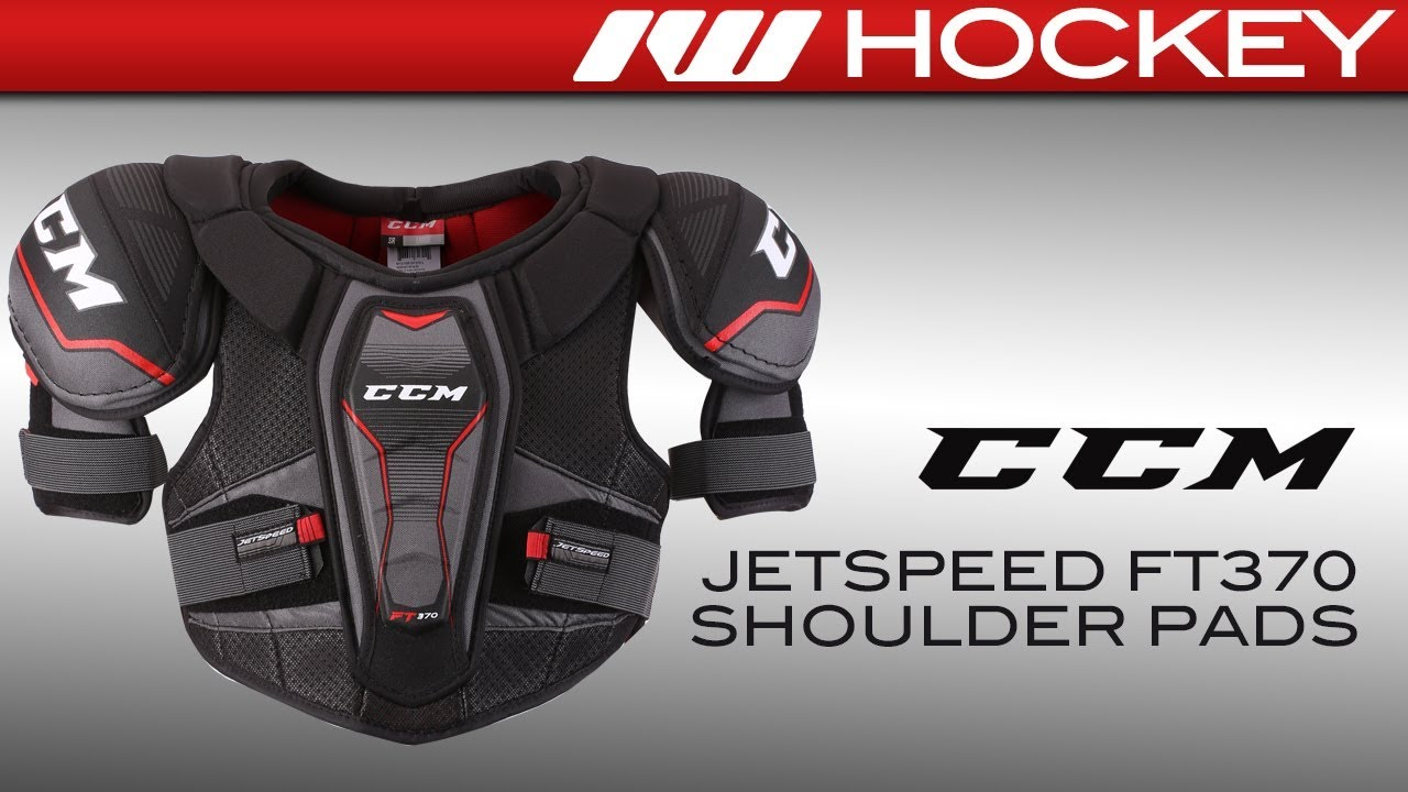 e98fc40cace CCM JetSpeed FT370 Shoulder Pad Review - YouTube