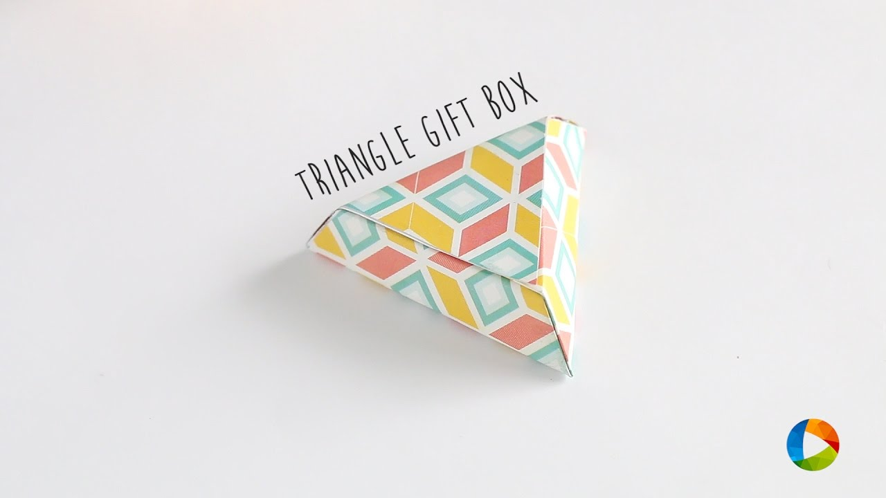 how to make triangular gift box