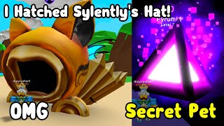 OMG I Hatched A Secret Sylently's Hat! Got Pyramidium Secret Pet! - Bubble Gum Simulator