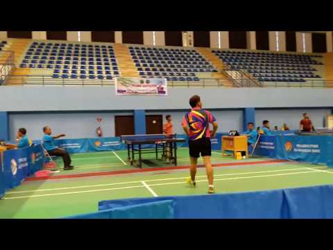Tenis meja Kejurprov dan Pra Porprov Kaltim. {M. Asfhal Aspian (Samarinda) VS Helmy Yahya (PPU)}