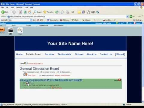 Web Design Tutorial: Add an Online Discussion Forum & Newsletter to Your Website