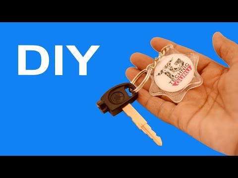 How to make Resin Key ring with your photo at Home for Car and Bike