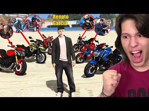 R0UBAND0 E COLECIONANDO MOTOS DE YOUTUBERS NO GTA 5!!