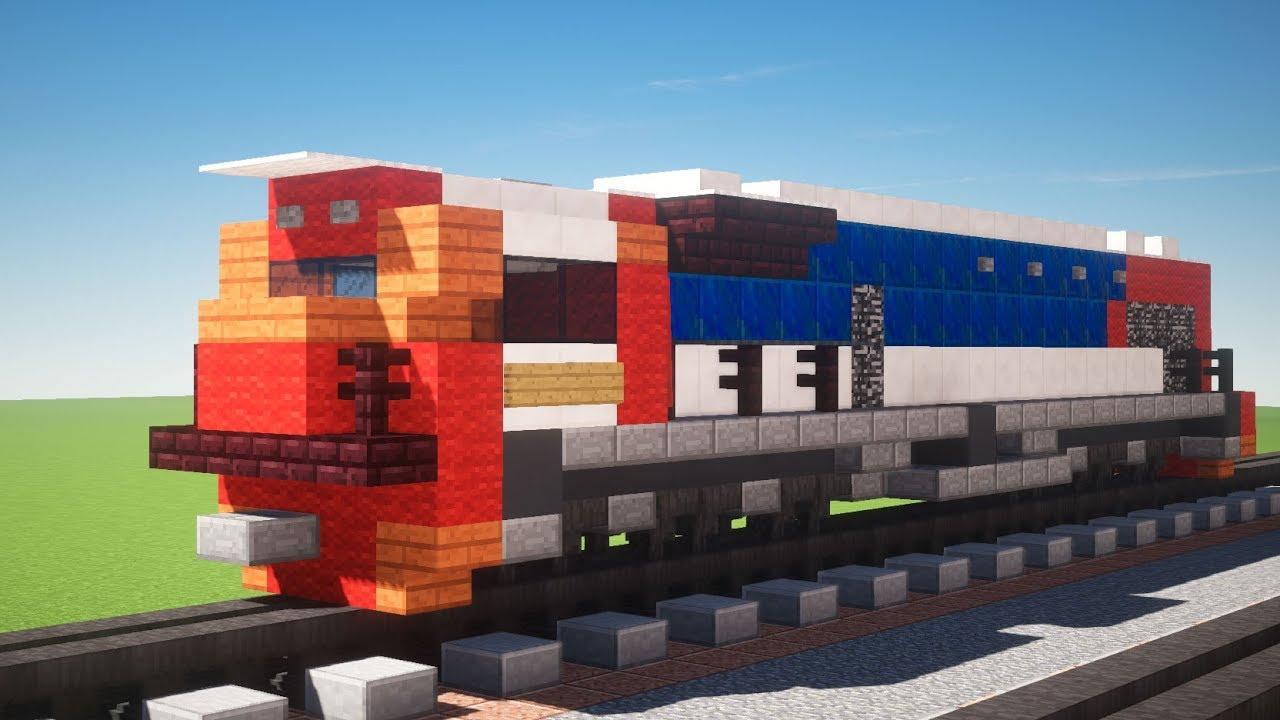 Gambar Kereta Api Minecraft Minecraft Kereta Api Cc 205 Gt38ace Locomotive Tutorial Youtube