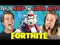 FORTNITE | Keep The Elder Alive Challenge (React: Gaming)