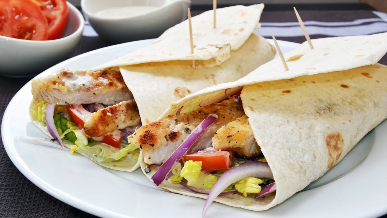 How to Make Chicken Wraps - Easy Chicken Wrap Recipe - YouTube
