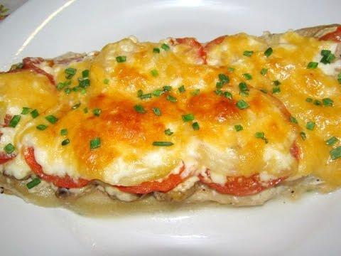Вкусно -#РЫБА Запеченная с Овощами и Грибами под Сыром #Рецепт