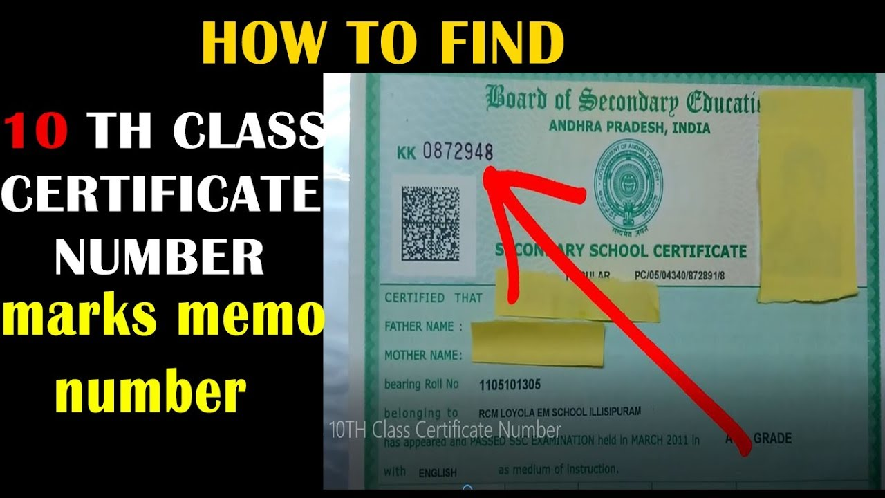 What is 10th class certificate number 10th class memo number gds what is 10th class certificate altavistaventures Choice Image