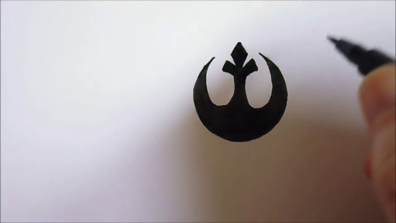 how to draw a rebel alliance star wars logo youtube