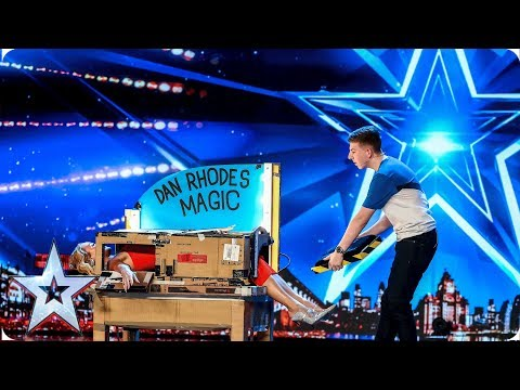 Magic Dan Rhodes saws Amanda Holden in half!  | Auditions | BGT 2019