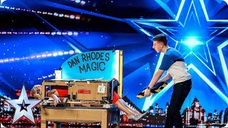 Magic Dan Rhodes saws Amanda Holden in half!  | Auditions | BGT 2019