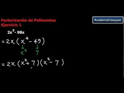 Factorización de Polinomios - Ejercicio 1 - YouTube