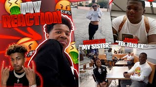 I REACTED TO DDG TAKING MY LIL SISTER ON A DATE WITH TEE TEE EX!