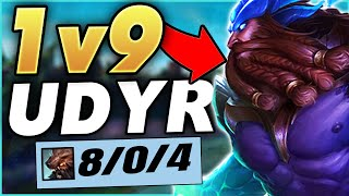 WTF!?! THIS NEW 100% BEYOND BROKEN STRAT MAKES UDYR 1V9 - League of Legends